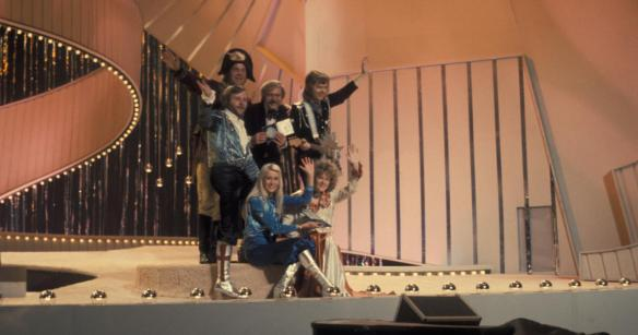ABBA, after their famous victory at the 1974 Eurovision Song Contest for Sweden..jpg