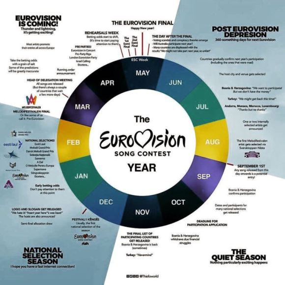 The Eurovision Year infographic