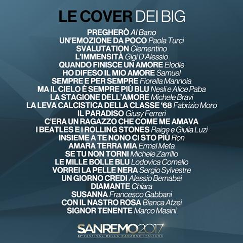 La lista dei brani che i Big interpreteranno nella Serata Cover di #Sanremo2017 .png