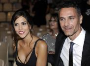 Italian actor Raoul Bova (R) and his new girl friend Rocio Munoz Morales, during the ceremony at the Teatro Antico at the 60th Taormina Film, in Taormina Sicily Island, Italy, 14 June 2014. The festival runs from 14 to 21 June. ANSA/CLAUDIO ONORATI