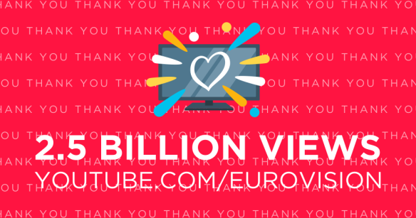 You know it's a great day when the Eurovision YouTube channel hits 2.5 BILLION views! One of the many reasons why you guys are the best 🎉