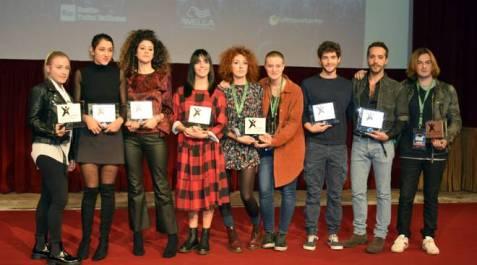 i finalisti di Area Sanremo 2019 Camilla Magli, Alex Leo, Gabriella Martinelli e Lula, Messya, Arianna Manca, Matteo Faustini, Jaqueline Branciforte ed Alessia Gerardi