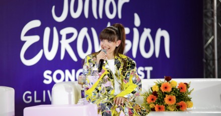Junior Eurovision 2019 winner Viki Gabor's press conference.jpg