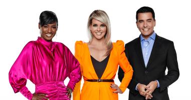 Eurovision 2020 presenters Edsilia Rombley, Chantal Janzen and Jan Smit.png