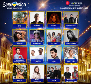 Participants Vidbir 2020, Ukraine's national selection