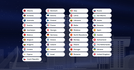 41 countries will participate in the Eurovision Song Contest 2020