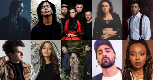 Confirmed artists for Eurovision 2021