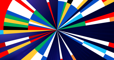 Eurovision 2020 'Open Up' design