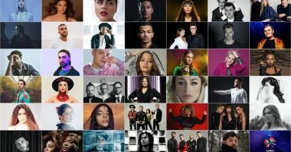 Eurovision 2020 - The 41 chosen representatives